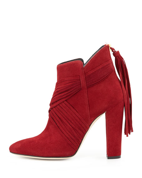 Harris Suede Ankle Boot, Maroon