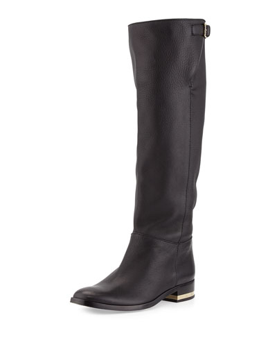 Paxton Leather Knee Boot, Black