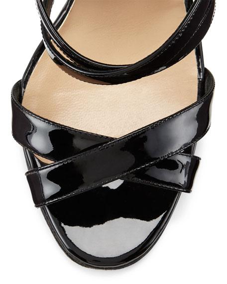 aa9ef2f79c7c1b Manolo Blahnik Eremito Patent Leather Strappy Sandal