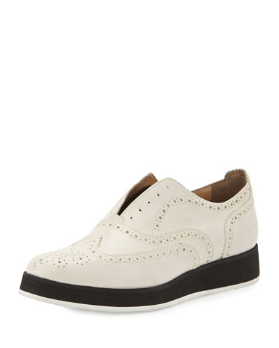 Meli Brogue Slip-On, Off White