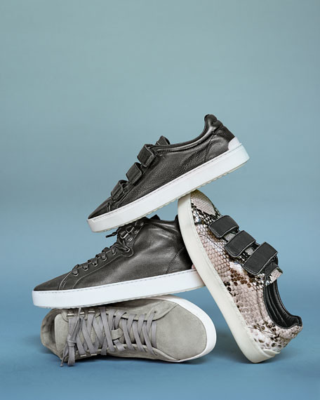 Kent Suede High-Top Sneaker, Light Gray