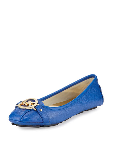Fulton Leather Moccasin, Electric Blue