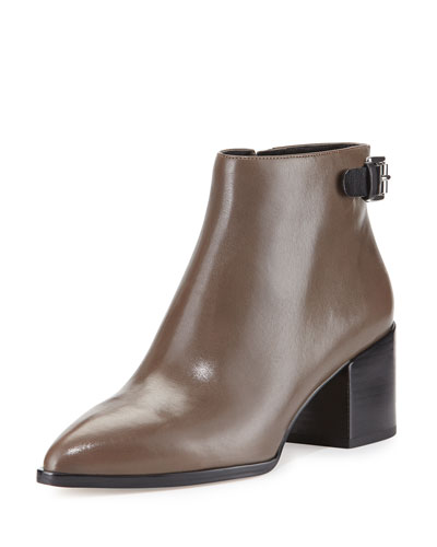 Saylor Leather Ankle Boot, Elephant/Black