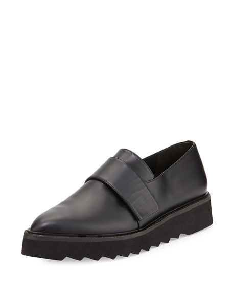 Ames Leather Slip-On Creeper, Black
