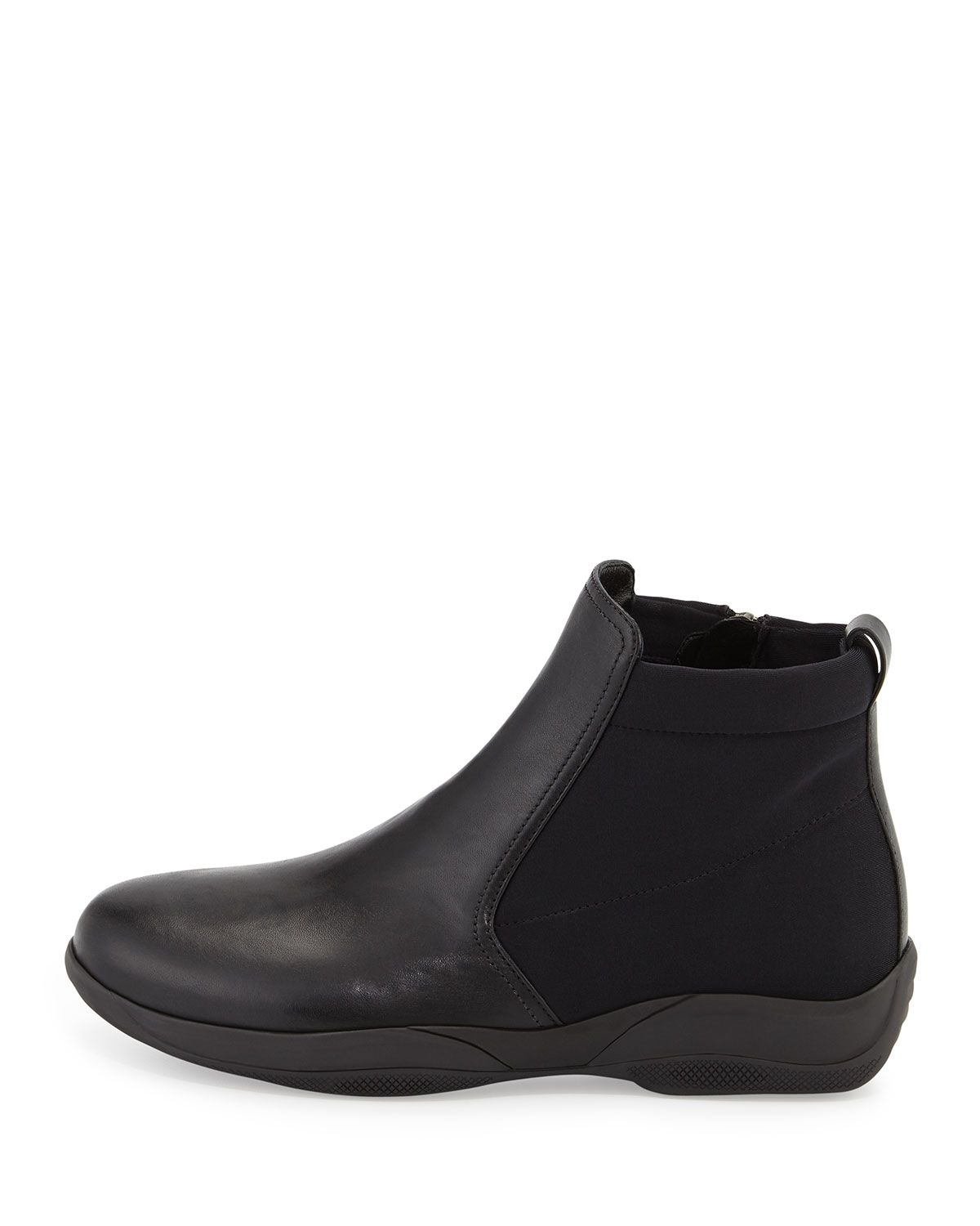 fashionable sale online free shipping sale Prada Sport Embossed Leather Ankle Boots buy cheap for nice outlet eastbay AikAI