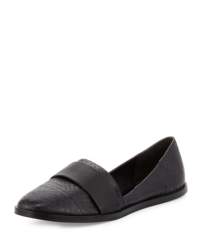 Mason-2 Calf-Hair Flat, Black