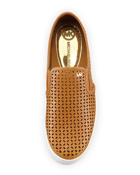 Olivia Perforated Slip-On Sneaker, Peanut