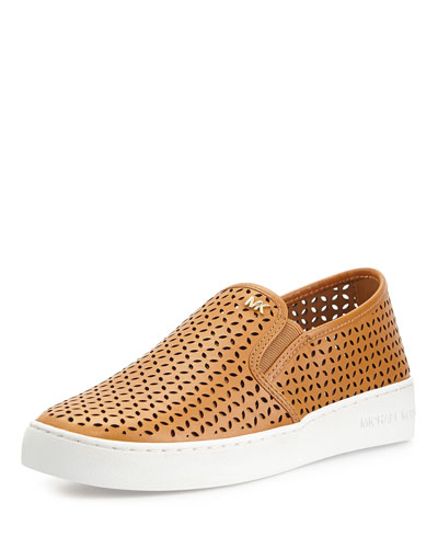 Olivia Perforated Slip-On Sneaker, Peanut