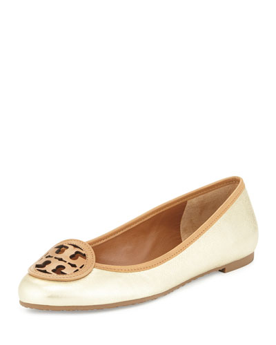 Louisa Logo Ballet Flat, Platinum Blonde