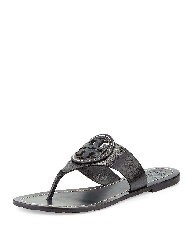 8978dac10c0 Tory Burch Louisa Logo Flat Sandal