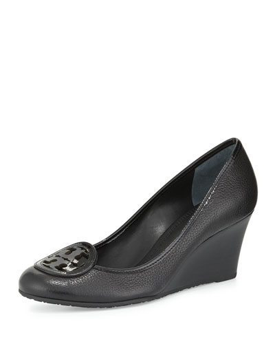 Louisa Logo Wedge Pump, Black