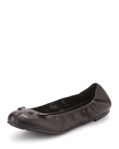 Sacchetto Mouse Ballet Flat, Black
