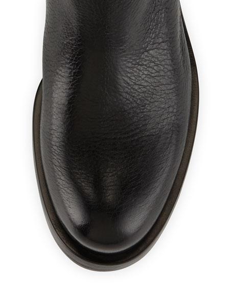 Cervo Logo Riding Boot, Black (Nero)