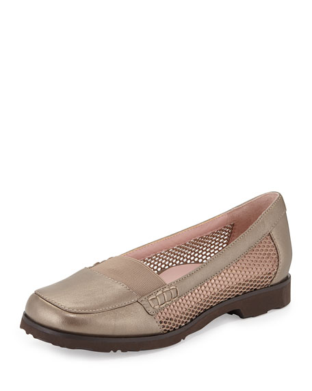 Taryn Rose Jac Mesh Slip-On Loafer, Quartz