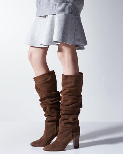 manolo blahnik suede boots