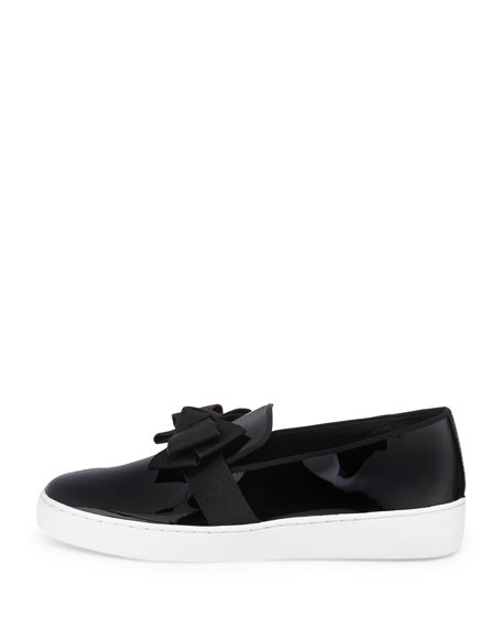 Val Runway Bow Skate Sneaker, Black