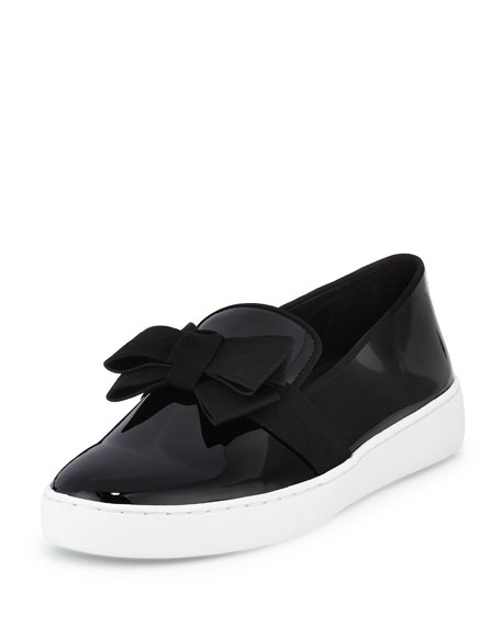 Michael Kors Val Bow Patent Leather Skate Sneakers