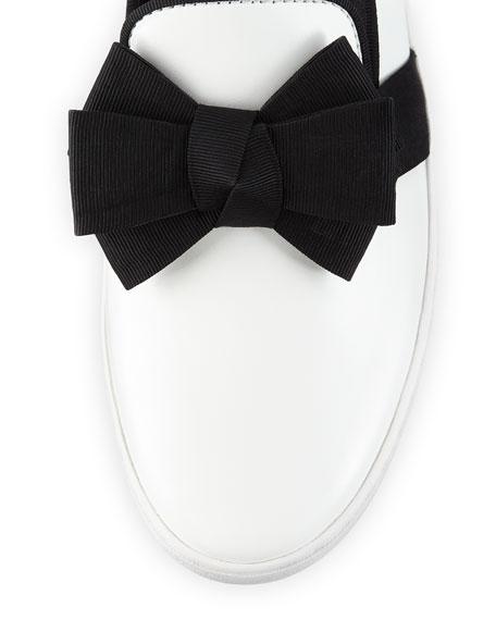 Val Runway Bow Skate Shoe, Optic White