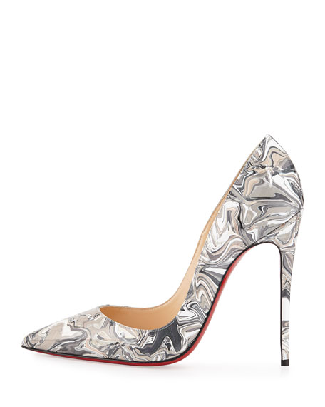 4ff2210ace1 So Kate Marbled Red Sole Pump Black