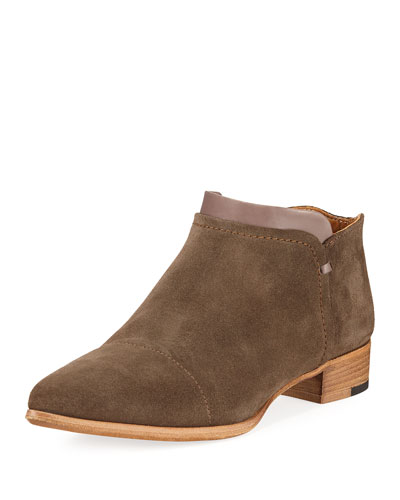 Serafina Suede Ankle Boot, Olive