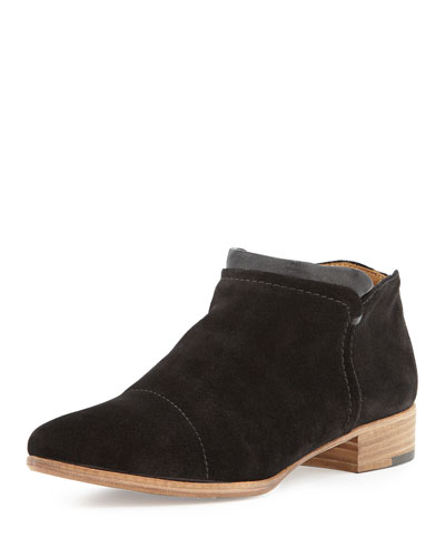 Serafina Suede Ankle Boot, Black