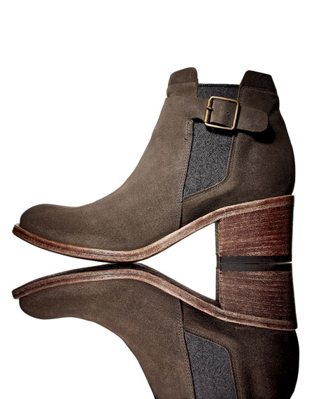 Charcoal Suede Boot - ShopStyle