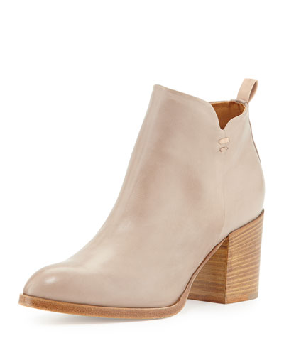 Torina Leather Ankle Bootie, Dove