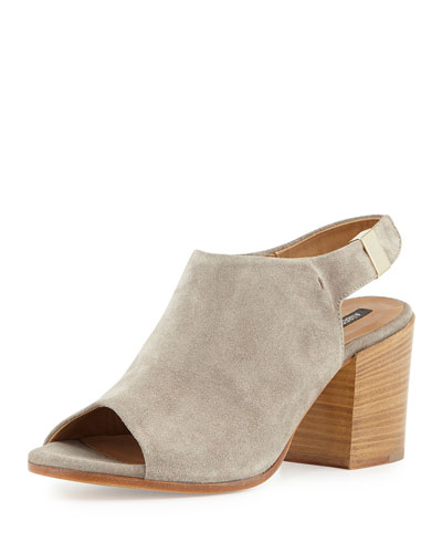 Ancona Suede Slingback Bootie, Sand