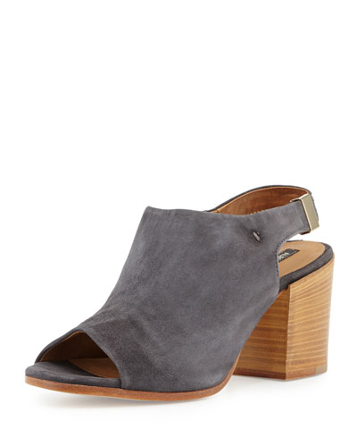 Ancona Suede Slingback Bootie, Anthracite