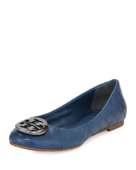 buy cheap excellent Tory Burch Quinn Leather Flats best seller online LGtPp7T