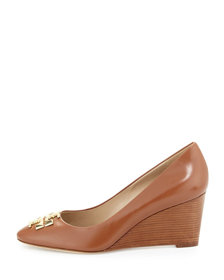 3d4c38a96 Tory Burch Raleigh Leather Wedge Pump
