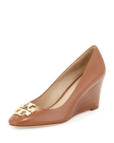 Raleigh Leather Wedge Pump, Nutria