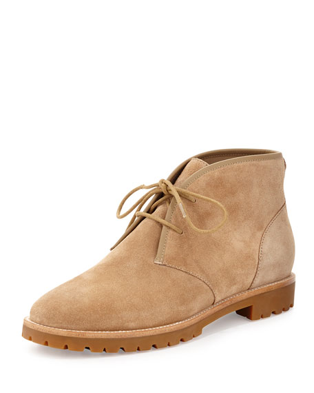 Tory Burch Westbury Suede Desert Boot, Light Camel