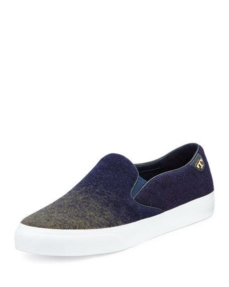 Tory Burch Rudi Ombre Slip-On Sneaker, Navy/Olive