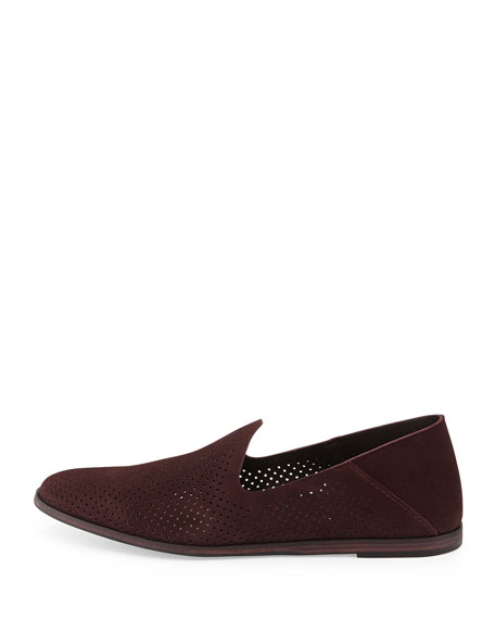Yara Perforated Suede Loafer, Port