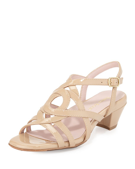 Taryn RoseOma Strappy Leather Sandal, Nude