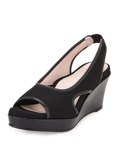 Sabriel Stretch Slingback Sandal, Black