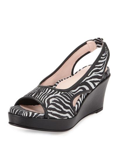 Sabriel Stretch Slingback Sandal, Zebra