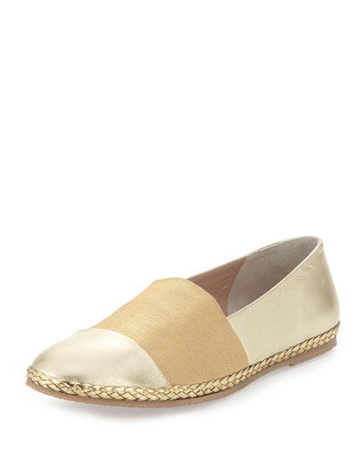 Lorie Napa Cap-Toe Slip-On, Platino