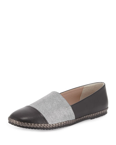 Lorie Napa Cap-Toe Slip-On, Black