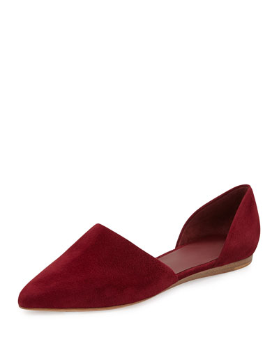 Nina Two-Piece d'Orsay Flat, Bordeaux