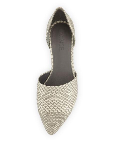 Nina 4 Snakeskin d'Orsay Skimmer, Charcoal/White