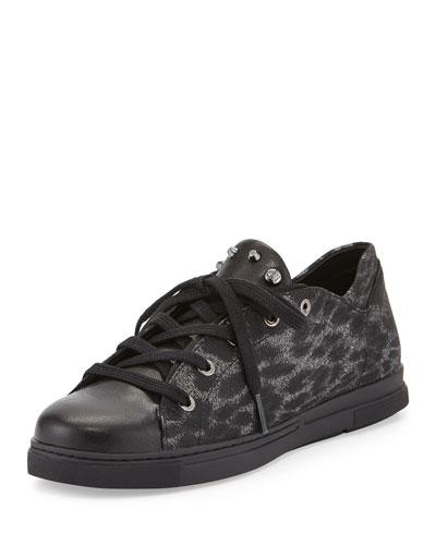 Touchdown Glitter Jacquard Sneaker, Pyrite