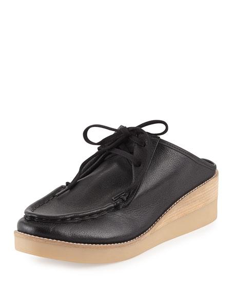 Derek Lam 10 Crosby Essex Washed Leather Mule, Black