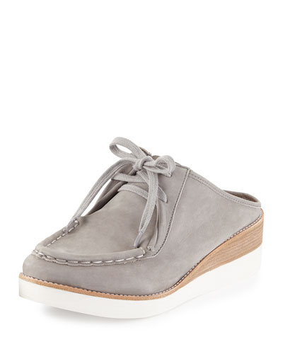 Essex Nubuck Leather Mule, Stone