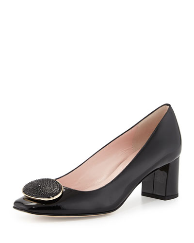 dana patent ornament pump, black