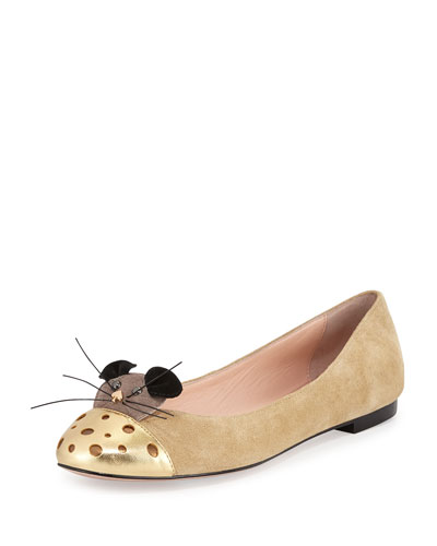 walt suede mouse ballet flat, desert