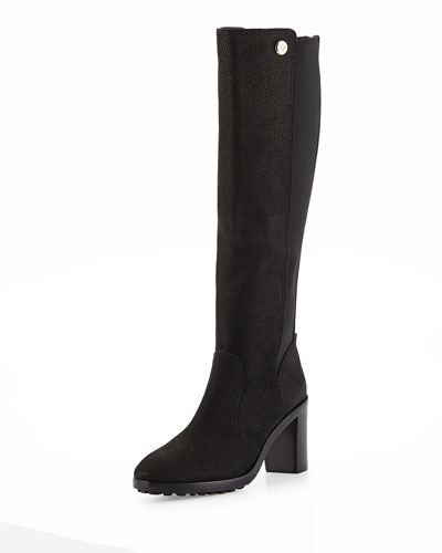 Sullivan Leather Knee Boot, Black