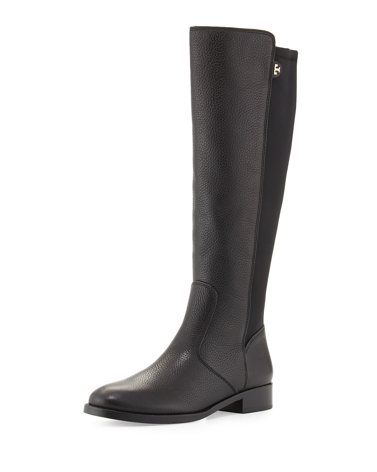 ec4d4583562534 Tory Burch Selden Pebbled Leather Riding Boot