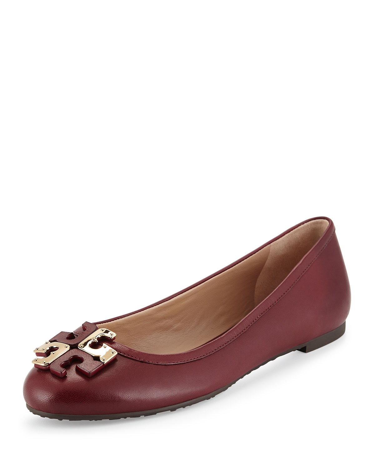 0d598e62ac97c4 Tory Burch Lowell Leather Ballet Flat